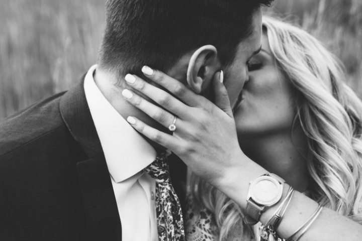 Where to place your hands while kissing him?